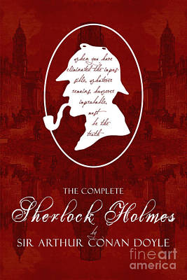Old Tv Drawing - Sherlock Holmes Book Cover Poster Art 2 by Nishanth Gopinathan