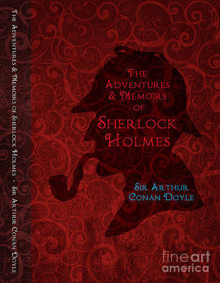 Old Tv Drawing - Sherlock Holmes Book Cover Poster Art 3 by Nishanth Gopinathan