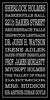 Photograph - Sherlock Holmes Bus Scroll 2 by Lou Ford
