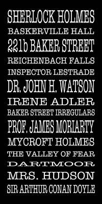 Bus Scrolls Photograph - Sherlock Holmes Bus Scroll by Lou Ford
