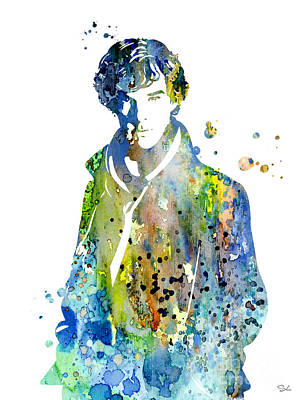 Movie Poster Painting - Sherlock Holmes by Watercolor Girl