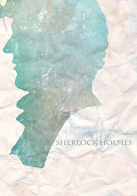 Sherlock Holmes On Paper Art Print by Georgia Fowler