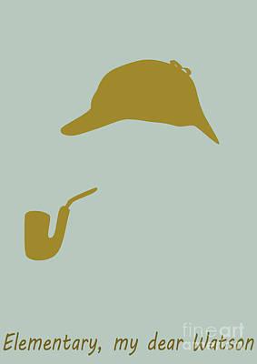 Digital Art - Sherlock Holmes Poster by Martin Capek