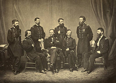 William Sherman Photograph - Sherman And His Generals, 1865 by Getty Research Institute