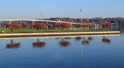 Photograph - Sherman Field Reflections by Mary Haber