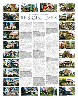 Digital Art - Sherman Park Historic Bungalow District by Geoff Strehlow
