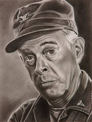 Colonel Wall Art - Drawing - Sherman T Potter by Brian Broadway
