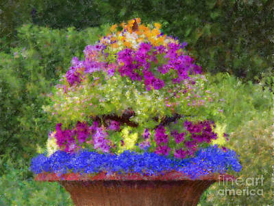 Digital Art - Sherri's Flower Cascade by L J Oakes