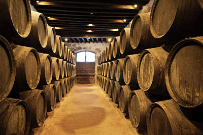Cellar Photograph - Sherry Casks In A Winery, Gonzalez by Panoramic Images