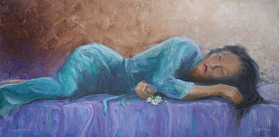 Purple Robe Painting - Sherry by Jerry McElroy