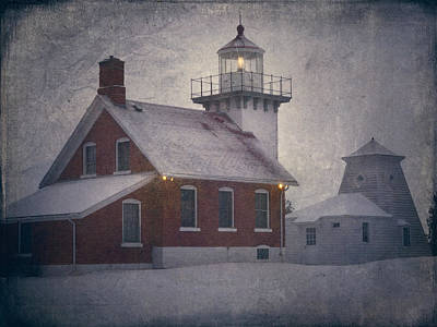 Sherwood Point Light Original by Joan Carroll