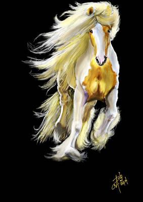 Gypsy Vanner Digital Art - She's A Gypsy by Angela Baird