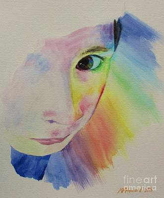 She's A Rainbow Art Print