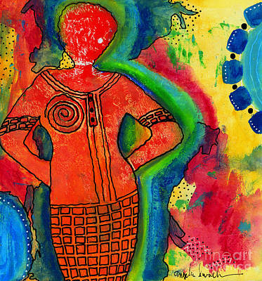 Painting - She's A Super Woman by Angela L Walker