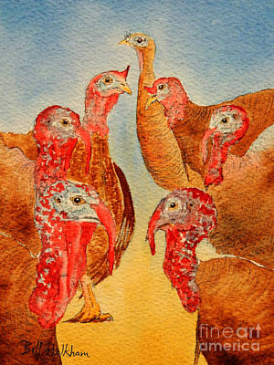 Wild Turkey Painting - She's All That by Bill Holkham