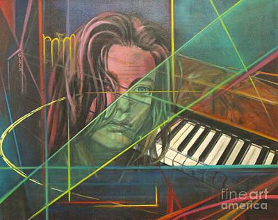 She's Got The Blues Art Print by Eva Berman