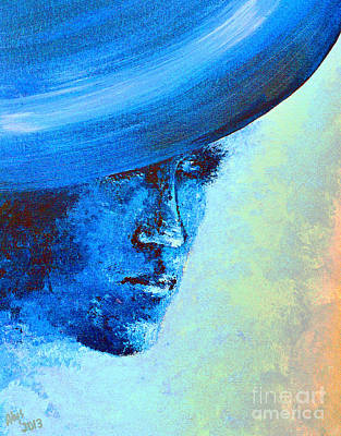 Shi Di Has The Blues Poster Art Print by Alys Caviness-Gober