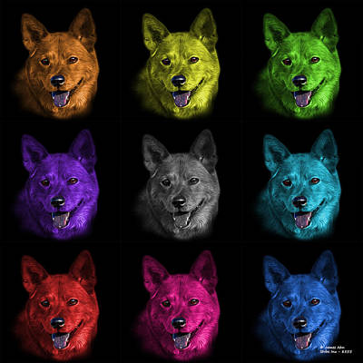 Mixed Media - Shiba Inu Dog Art - 8555 - Bb - M by James Ahn