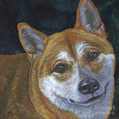 Shiba Inu Painting - Shiba Inu by Hope Lane