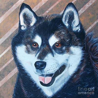 Art Print featuring the painting Shiba Inu by PainterArtist FINs husband Maestro