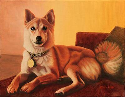 Painting - Shiba Inu Portrait by Ruth Soller