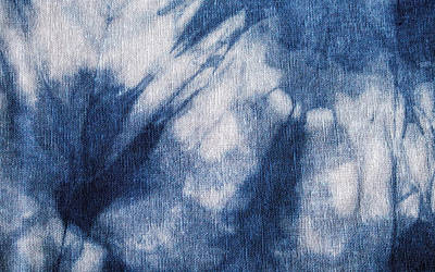 Abstract Forms Painting - Shibori 16 by Aimee Stewart