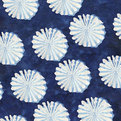Patriotic Digital Art - Shibori IIi by Elizabeth Medley