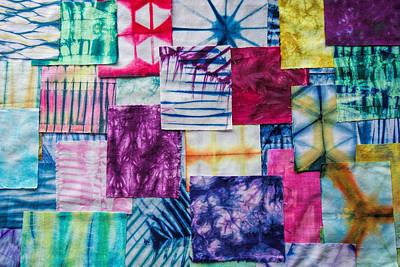 Shibori Patchwork Indigo Art Print
