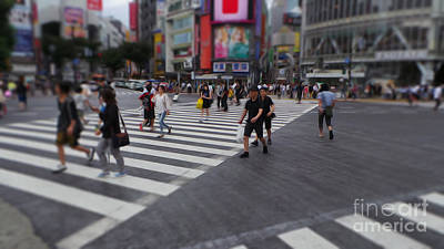 Photograph - Shibuya Crossing At Noon by David Bearden