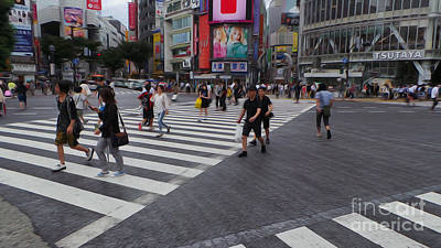 Photograph - Shibuya Crossing by David Bearden