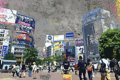 Shibuya Digital Art - Shibuya Street Creation by Delphimages Photo Creations
