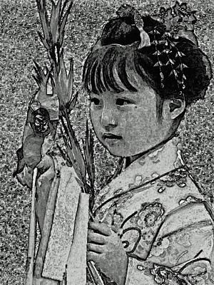 Shichi-go-san Girl Art Print