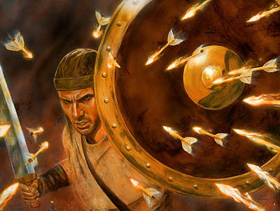 Spiritual Warfare Painting - Shield Of Faith by Douglas Ramsey