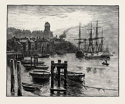Boat Dock Drawing - Shields Harbour The High Lights by English School