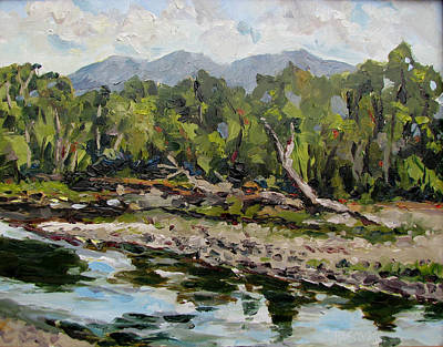 Painting - Shields River by Les Herman