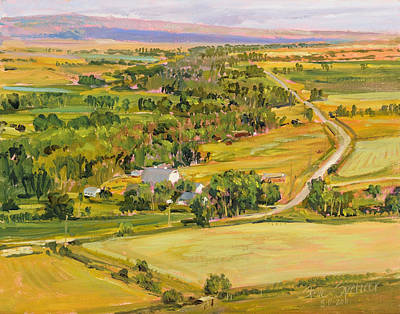 Art Print featuring the painting Shields River Montana by Steve Spencer