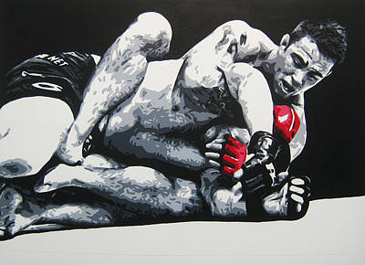 Painting - Shields V Mayhem Miller by Geo Thomson