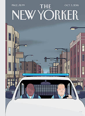 Police Painting - Shift by Chris Ware