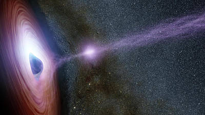 Photograph - Shifting Coronas Around Black Holes by Science Source