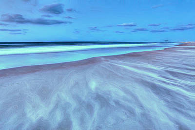Shifting Sands On Frisco Beach Outer Banks II Art Print