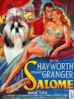 Shih Tzu Painting - Shih Tzu Art Canvas Print - Salome Movie Poster by Sandra Sij