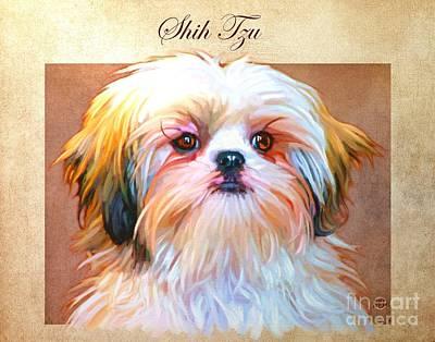 Buy Dog Art Digital Art - Shih Tzu Art by Iain McDonald
