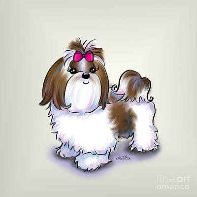 Mixed Media - Shih Tzu Beauty by Catia Lee