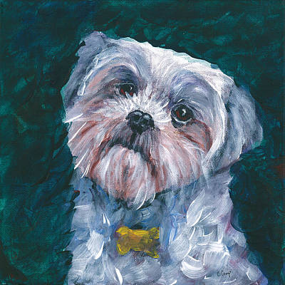 Shih Tzu Painting - Shih Tzu Love by Christine Camp