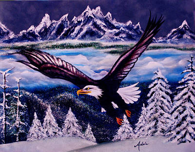 Eagle Painting - Shiloh by Adele Moscaritolo
