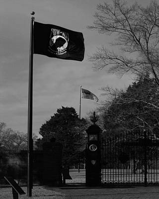 Shiloh National Cemetery B And W Art Print by Pamela Peters