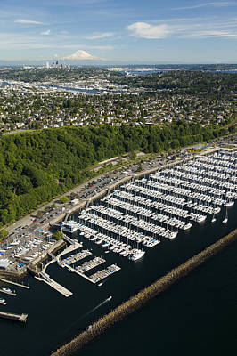 Photograph - Shilshole Bay Marina On Puget Sound by Andrew Buchanan/SLP