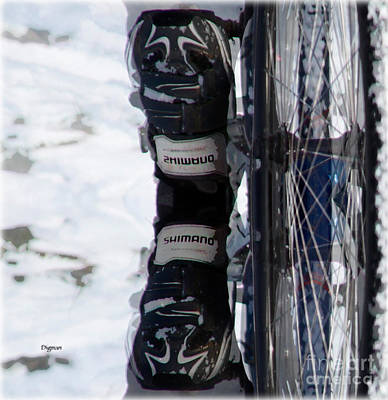 Shoes Photograph - Shimano  by Steven Digman