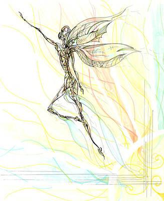 Drawing - Shimmer by Karen  Renee