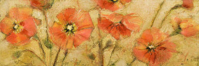Orange Poppy Painting - Shimmering Poppies by Jen Norton